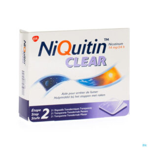 Packshot Niquitin Clear Patches 21 X 14mg