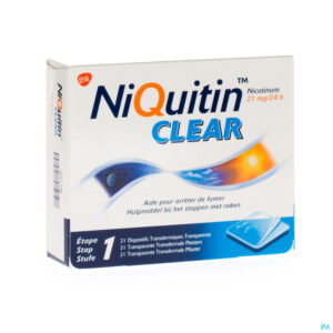 Packshot Niquitin Clear Patches 21 X 21mg
